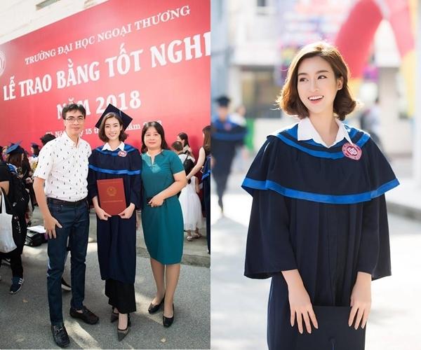 Hoa hậu Mỹ Linh nhận bằng tốt nghiệp trước ngày trao lại vương miện