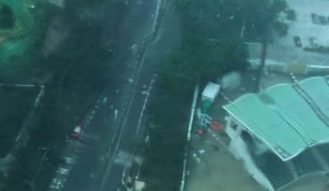 siêu bão Mangkhut tấn công Hong Kong