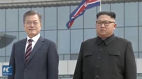 Vợ chồng ông Kim Jong Un ra sân bay đón Tổng thống Hàn