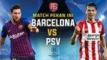Barcelona 0-0 PSV: Chủ nhà suýt thủng lưới (H1)