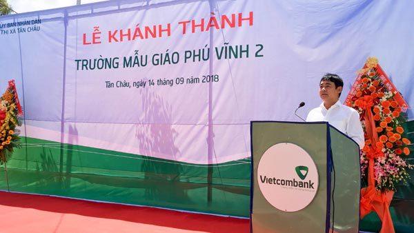 Vietcombank tài trợ 7 tỷ đồng xây trường mẫu giáo ở An Giang