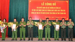 Bổ nhiệm 4 đại tá làm Phó Giám đốc Công an Thanh Hóa