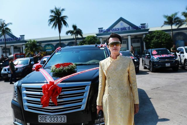 Màn rước dâu ở Quảng Ninh bằng dàn xe 'khủng' gây sốt cộng đồng mạng