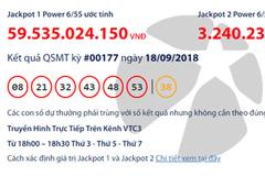 Jackpot 1 Power 6/55 chạm mốc 60 tỷ đồng