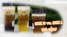 Clip chứng minh trà sữa size M và size L chỉ như một trò đùa?