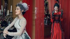 Á hậu Huyền My mặc áo dài phong cách hoàng gia