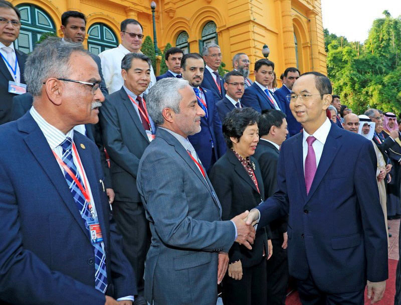 Chủ tịch nước Trần Đại Quang tiếp Trưởng đoàn các Cơ quan Kiểm toán tối cao châu Á