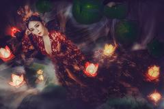 Hoa khôi Hải Yến quyến rũ trong bộ ảnh Trung thu