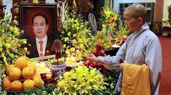 Cầu siêu tưởng niệm Chủ tịch nước ở quê nhà Ninh Bình