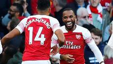 Lacazette và Aubameyang bừng sáng, Arsenal thắng đẹp Everton
