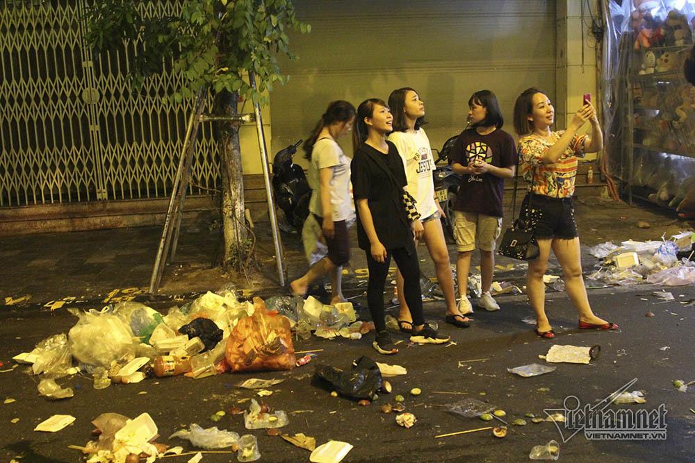 rác thải,phố cổ,Trung thu,Tết Trung thu,Hà Nội