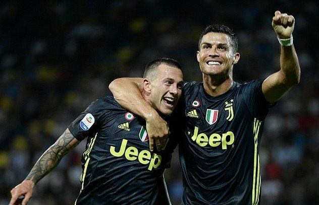 Bảng xếp hạng Serie A vòng 5 mùa giải 2018/19