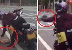 Tài xế xả rác ra đường bị nữ biker dạy bài học nhớ đời