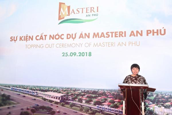 Dự án Masteri cất nóc và hoàn thành phần thô