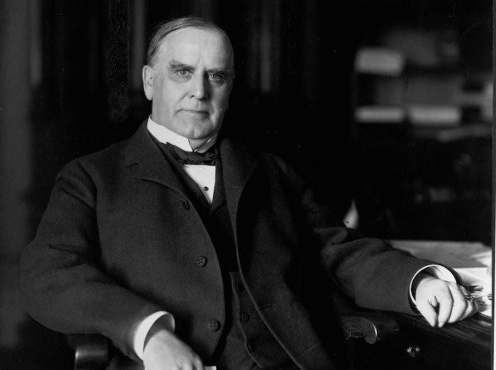 Tổng thống thứ 25 của Mỹ William McKinley. Ảnh: History.com