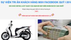 Tái diễn trò lừa đảo tặng xe SH cho người dùng Facebook