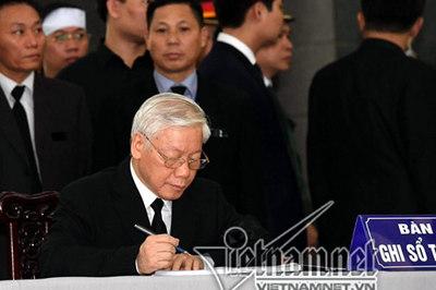 Lời lay động tiễn đưa Chủ tịch nước Trần Đại Quang