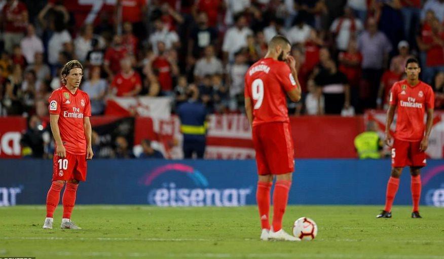 Modric 'rửa' The Best, Real thua tan tác trước Sevilla