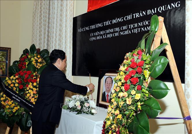 Chủ tịch MTTQ viếng Chủ tịch nước Trần Đại Quang tại Cuba