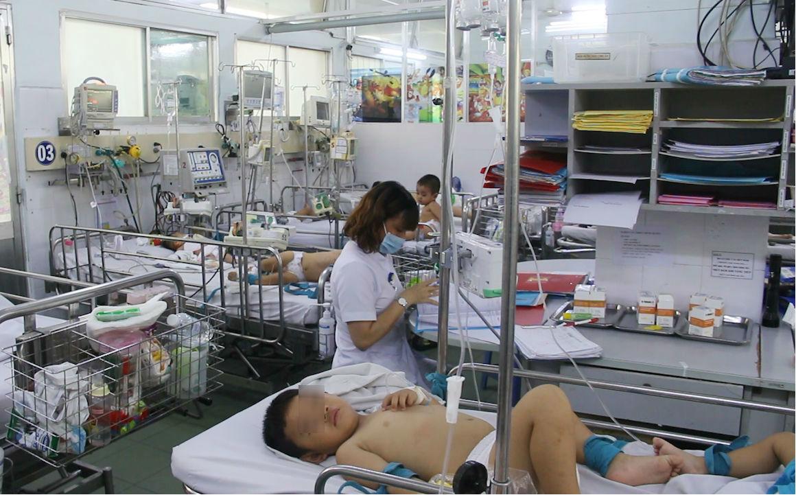 tay chân miệng,thở máy,bệnh viện Nhi đồng 1