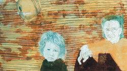 Cảm xúc mùa thu Hà Nội qua những bức tranh bằng giấy Dó