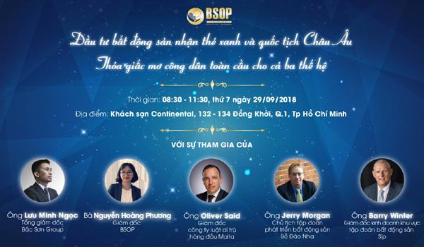 BSOP tổ chức hội thảo đầu tư định cư châu Âu