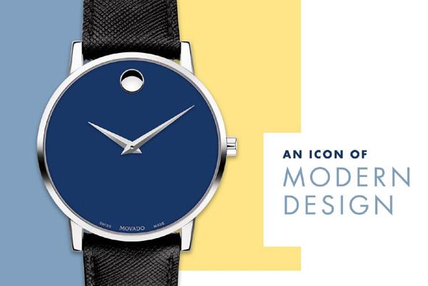 Đồng hồ Movado: Xu hướng thiết kế tối giản, tinh tế