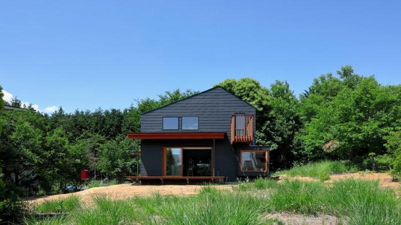 thiết kế nhà,kiến trúc Nhật,không gian xanh,ngôi nhà gần gũi với thiên nhiên