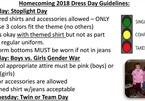 Trường học hướng dẫn học sinh chọn trang phục theo tình trạng quan hệ