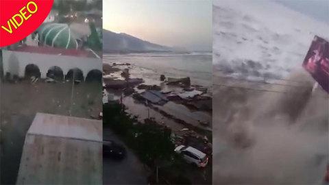 Hãi hùng sóng thần tấn công Indonesia
