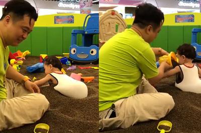 """Clip hài: Cái kết """"đau ruột"""" khi để các ông bố trông con"""