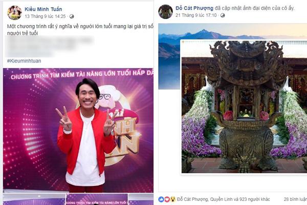 Cát Phượng - Kiều Minh Tuấn đồng loạt bị hack Facebook