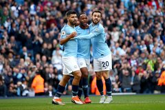 """Sterling và Aguero """"nổ súng"""", Man City dễ dàng hạ Brighton"""