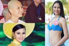 Hình ảnh người đẹp thi Hoa hậu xuống tóc quy y gây xôn xao
