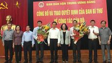 Bộ Chính trị, Ban Bí thư Trung ương Đảng điều động cán bộ