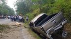 Xe bán tải lao vách núi, cán bộ công an tử nạn