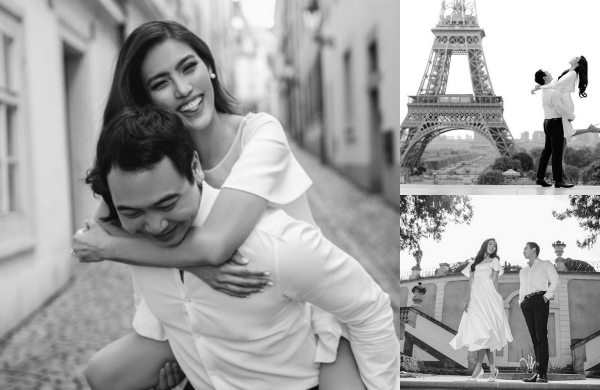 Ảnh cưới thơ mộng của Lan Khuê và chồng doanh nhân ở Paris