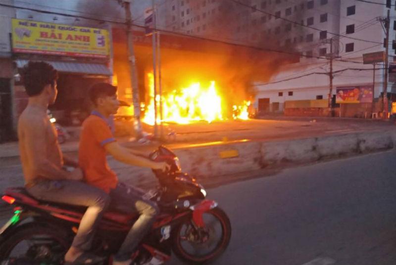 cháy cây xăng,Sài Gòn,hỏa hoạn