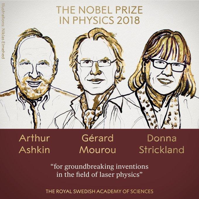 Những tiến bộ về vật lý laze giật giải Nobel 2018