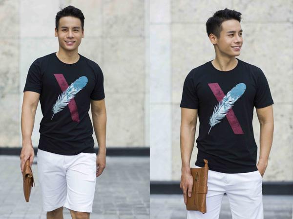 Nam vương Cao Xuân Tài 'cool' với áo thun F2 for Men