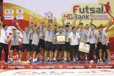 Thái Sơn Nam lần thứ 8 vô địch giải Futsal quốc gia