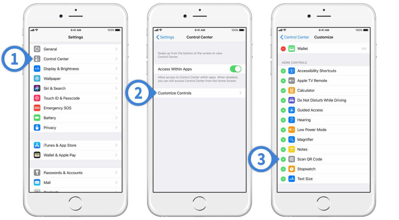 Tiện ích trên iOS 12 cho phép quét nhanh mã QR