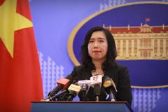 Việt Nam lên tiếng về diễn biến trên Biển Đông