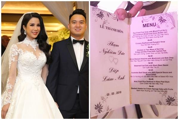 Thực đơn tiệc cưới xa xỉ với yến sào, bào ngư, vi cá của sao Việt