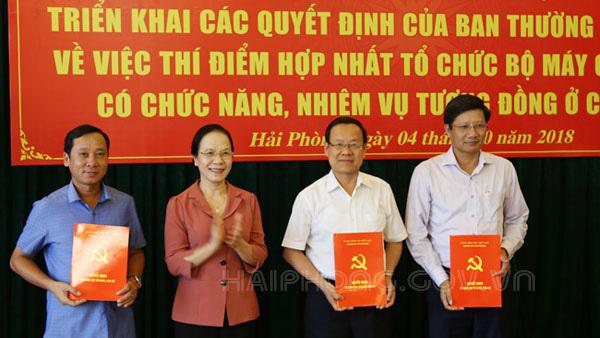 Hải Phòng thí điểm hợp nhất một loạt cơ quan đảng, chính quyền