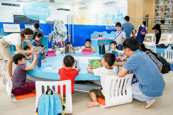 """Không gian """"học mà chơi"""" kiểu mới thu hút trẻ em TP.HCM"""