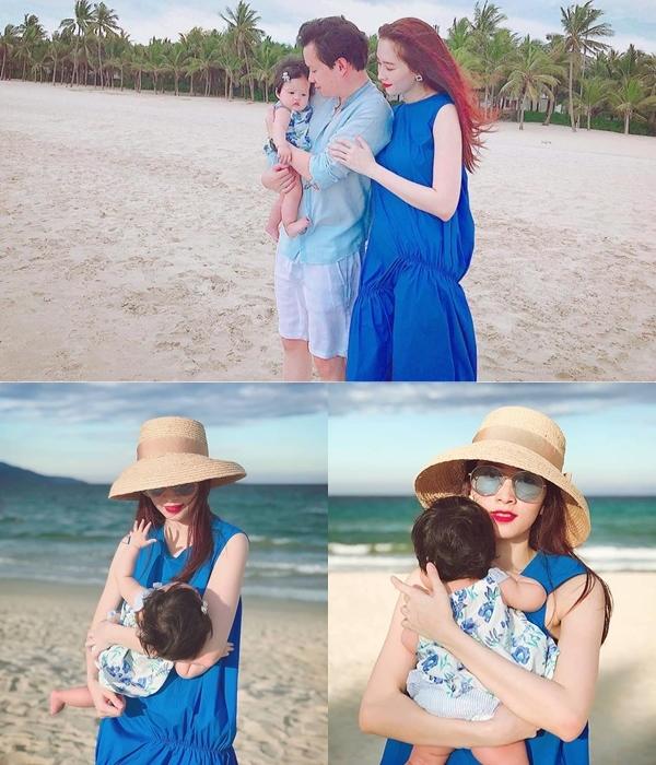 Hoa hậu Thu Thảo khoe ảnh gia đình hạnh phúc tròn 1 năm ngày cưới