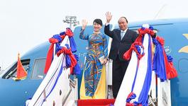 Thủ tướng lên đường dự hội nghị Mekong - Nhật Bản và thăm Nhật Bản