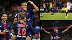Mbappe ghi 4 bàn trong 13 phút, PSG thắng hoành tráng
