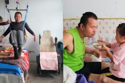 Video: Xúc động bé 6 tuổi một mình chăm cha liệt nửa người